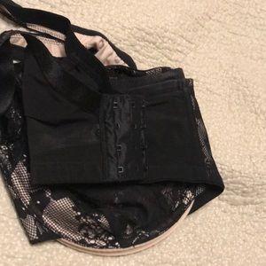 Cacique Intimates & Sleepwear - Soft shell black lace bra.
